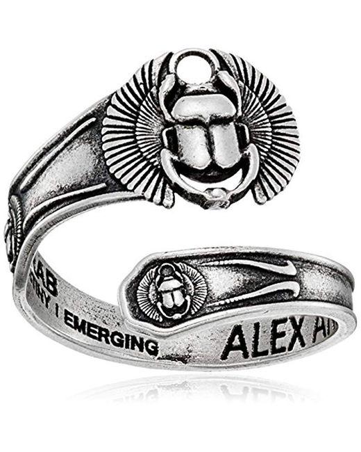 ALEX AND ANI - Metallic Scarab Spoon Ring - Lyst