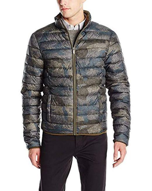 Calvin Klein - Multicolor Jeans Camo Print Puffer Jacket, for Men - Lyst