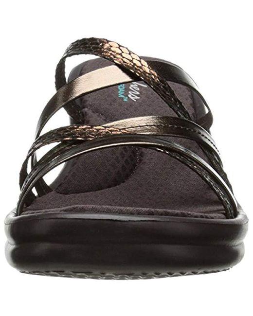0fb01283971d ... Skechers - Black Cali Rumblers-social Butterfly Wedge Sandal - Lyst ...