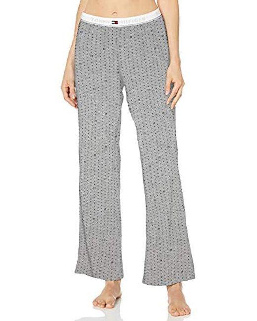 Tommy Hilfiger Gray Logo Bottom Lounge Pajama Pant Pj