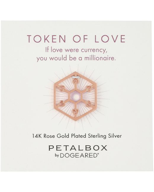 Dogeared Multicolor 'petal Box' Rose Gold-plated Love Token Charm