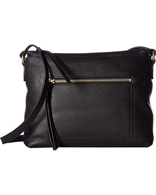 Cole Haan - Black Jade Leather Swingpack Crossbody Bag - Lyst