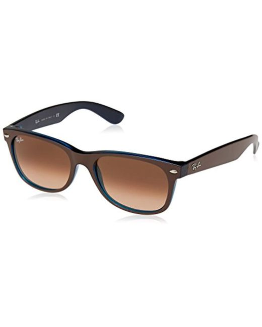a4424fff7dd Ray-Ban - Multicolor New Wayfarer Square Sunglasses Matte Choccolat On Opal  52 Mm for ...