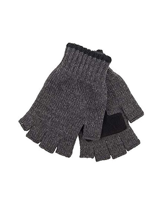 Levi's Gray Heathered Knit Fingerless Gloves for men