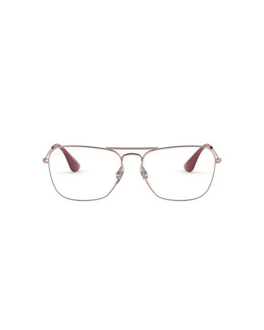 Ray-Ban Multicolor Rx3610v Metal Rectangular Prescription Eyeglass Frames