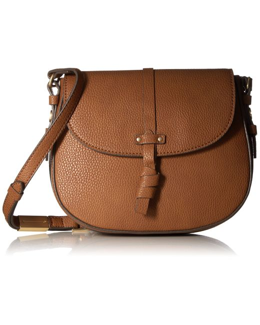 Foley + Corinna Brown Coconut Island Saddle Bag