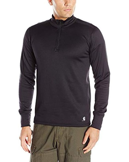 Carhartt - Black Base Force Extremes Super-cold Weather Quarter-zip Sweatshirt for Men - Lyst
