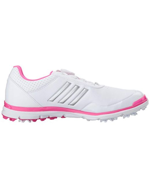 great fit classic shoes run shoes adidas Leather W Adistar Lite Boa Ftwwht Golf Shoe in Pink ...