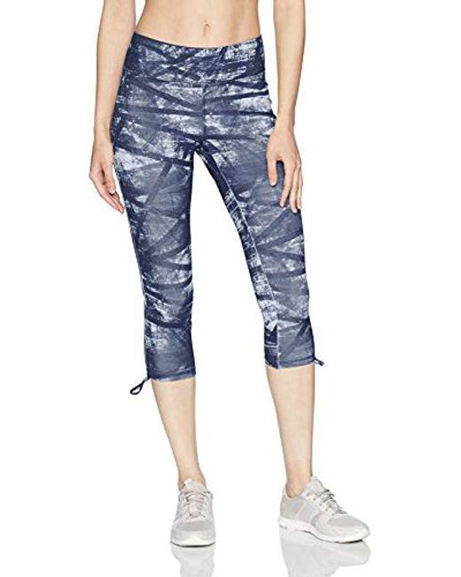 Jockey - Blue Texture Weave Print Capri - Lyst