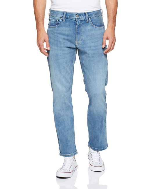 Calvin Klein Blue Straight Fit Jeans for men