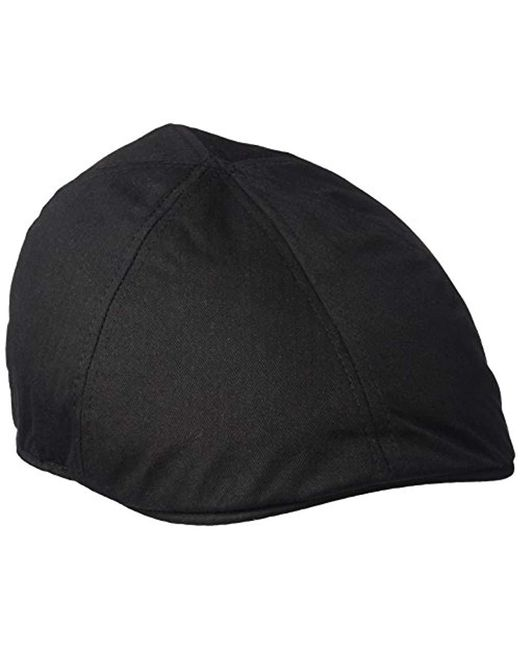 87e14eadb6b U.S. POLO ASSN. - Black Solid Herringbone Twill Ivy Cap for Men - Lyst ...