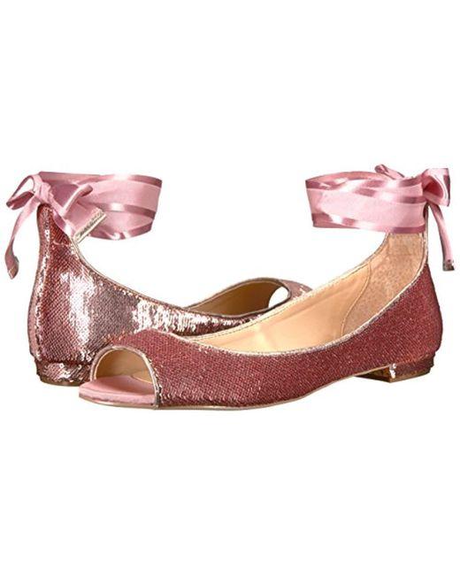 5d4f97e18 ... Badgley Mischka - Multicolor Jewel Lorde Ballet Flat - Lyst ...