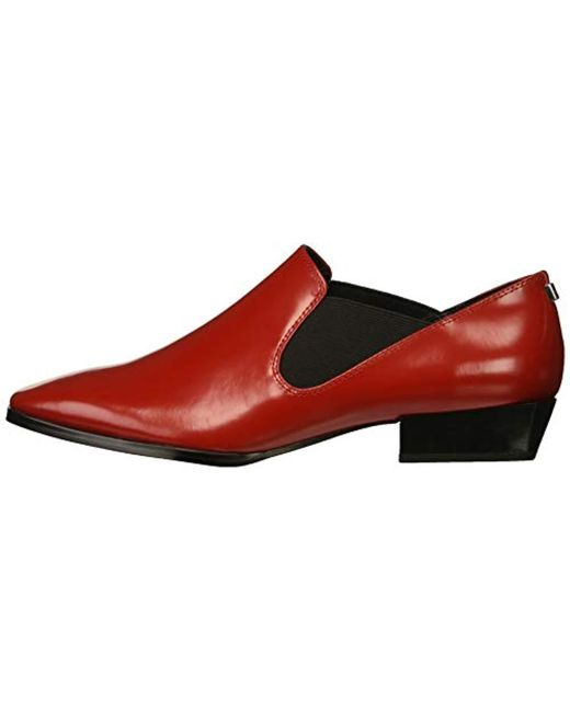 ab8f35a4cd8 ... Calvin Klein - Red Geneve Loafer - Lyst ...