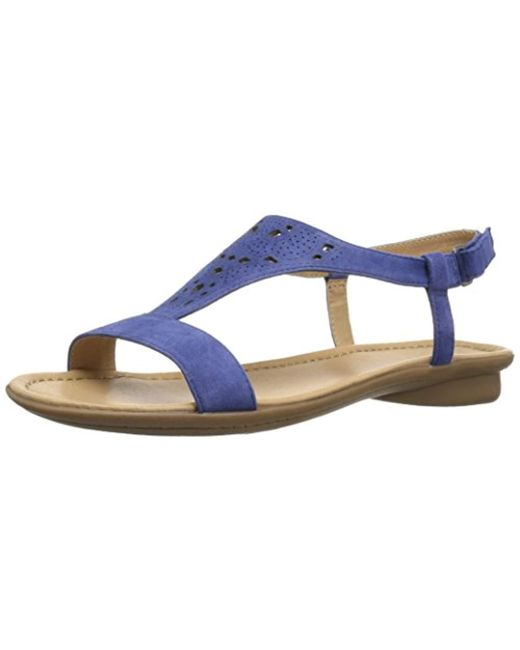 641944894738 Lyst - Naturalizer Windham Flat Sandal in Blue - Save 38%