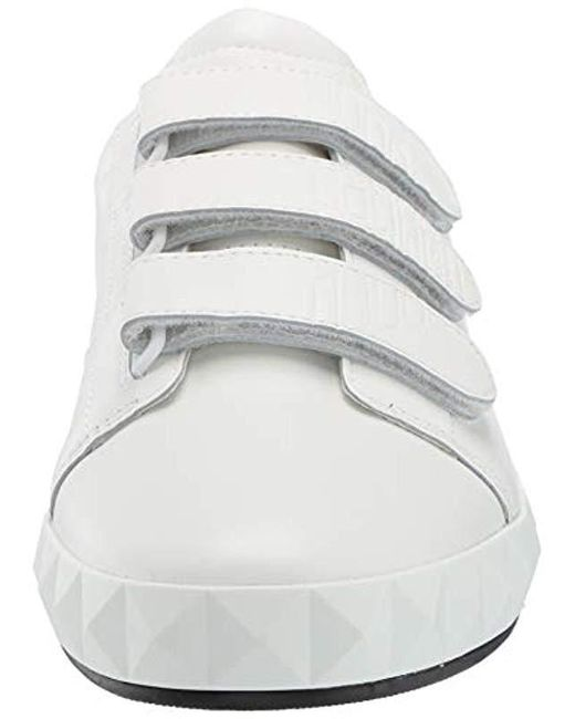 690c307fc4 Men's White Leather Velcrow Sneaker