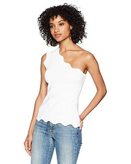 Bailey 44 - White Jasmine One Shoulder Sweater Top - Lyst