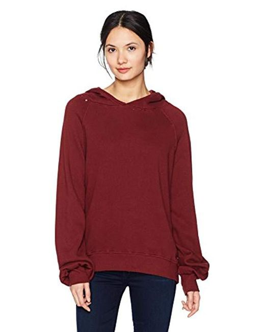Pam & Gela - Red Distressed Sweatshirt - Lyst