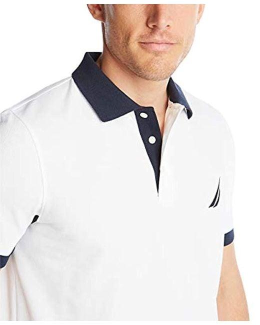 Nautica Mens Classic Fit Short Sleeve Performance Pique Polo Shirt