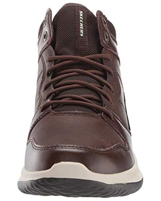 Skechers Mens Delson Ralcon Lace Up High Top Sneaker Chukka
