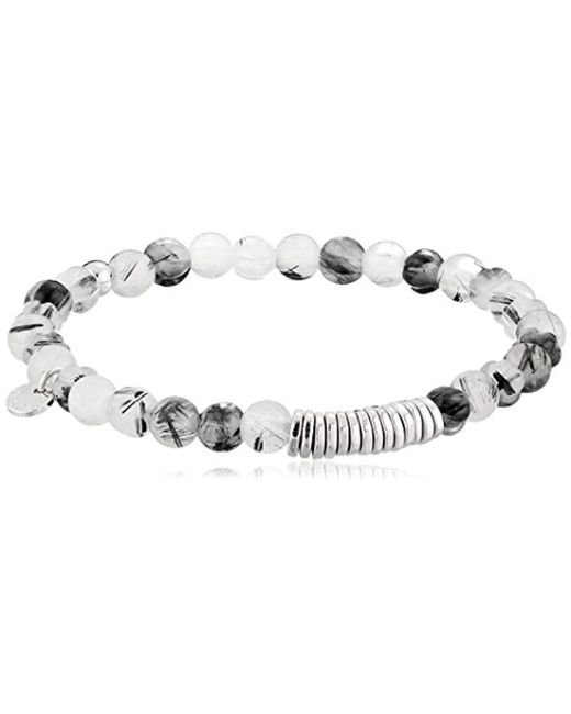 Tateossian - Discs Round Large Black Beaded Bracelet for Men - Lyst