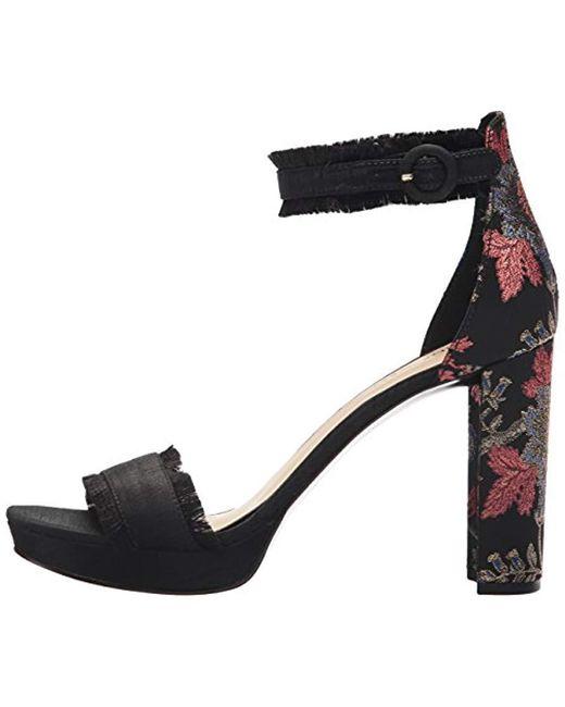 cbcd5a678771 Lyst - Nine West Daranita Fabric Heeled Sandal in Black - Save 34%