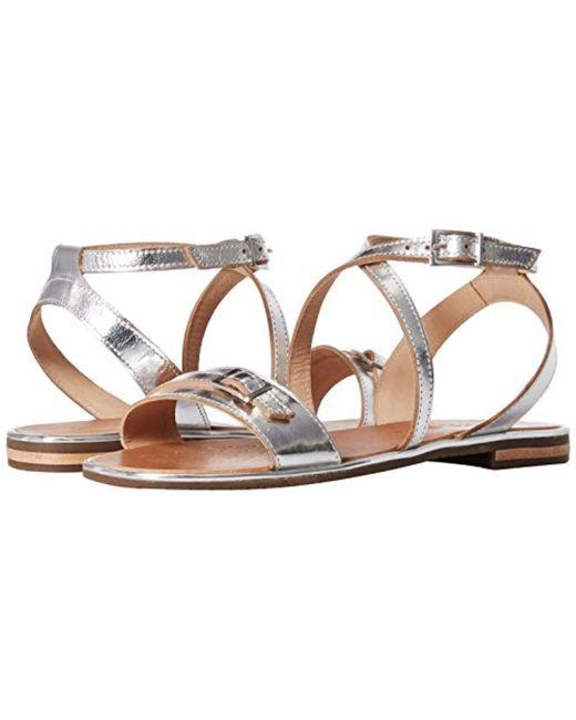 2ba803f4fc7c3 Lyst - Geox D Sozy Flat Sandal in Metallic - Save 16%