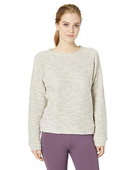 Marc New York White Boucle Long Sleeve Crewneck Pullover
