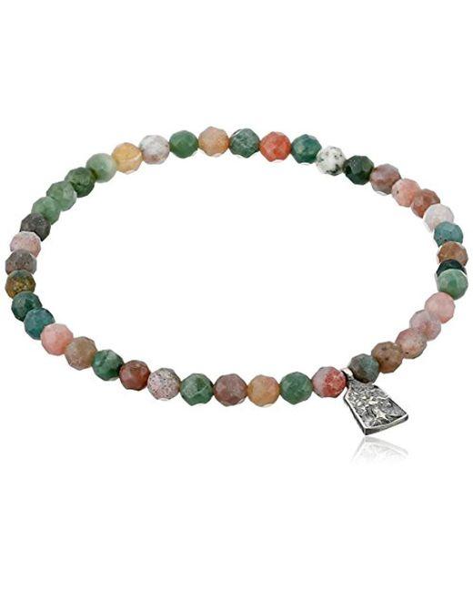 Satya Jewelry - Metallic Fancy Jasper Sterling Silver Mini Tree Of Life Stretch Bracelet - Lyst