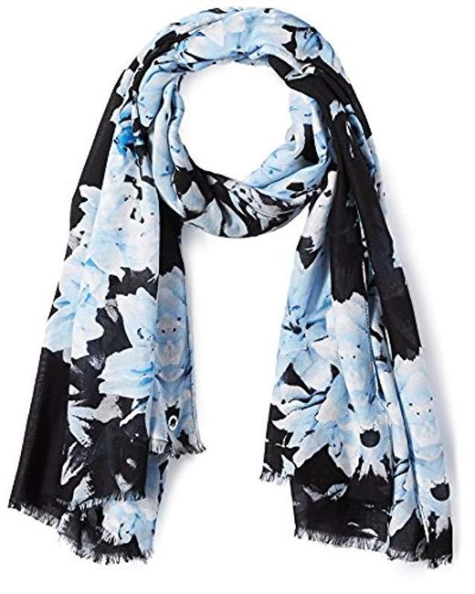 Calvin Klein - Multicolor Border Lily Scarf, Serene, One Size - Lyst