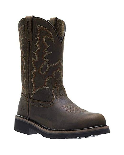 e67b02a6021 Lyst - Wolverine Rancher Steel Toe Western Boot in Brown for Men