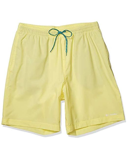 Columbia Yellow Summertide Stretch Short for men