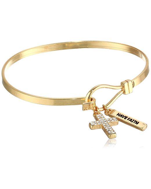 BCBGeneration Metallic Basic Have Faith & Cross Charm Bracelet