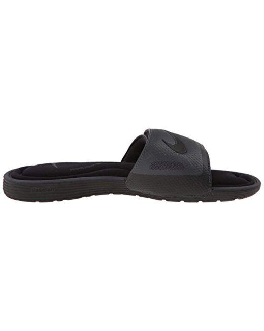 b5cca21154df Lyst - Nike Solarsoft Comfort Slide Sandal in Black for Men - Save 17%
