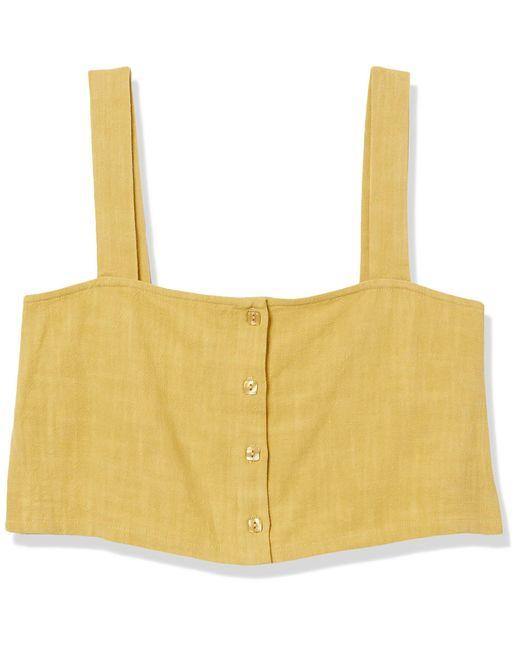 Rachel Pally Yellow Linen Miles Top