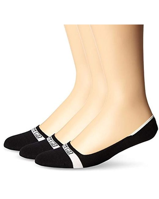 Sperry Top-Sider - Black Solid Signature Liner 3 Pack, Wine Assorted, Sock Size:10-13/shoe Size: 6-12 - Lyst