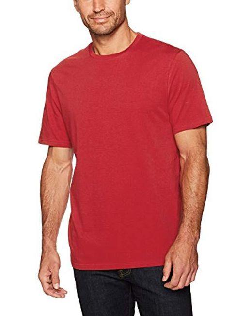 2d1e666fb ... Amazon Essentials - Red 2-pack Loose-fit Short-sleeve Crewneck T- ...