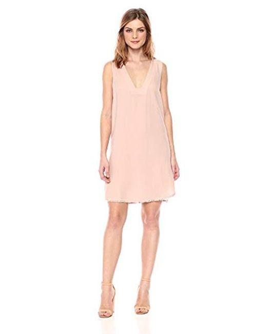 Splendid - Pink Vneck Tunic Dress - Lyst