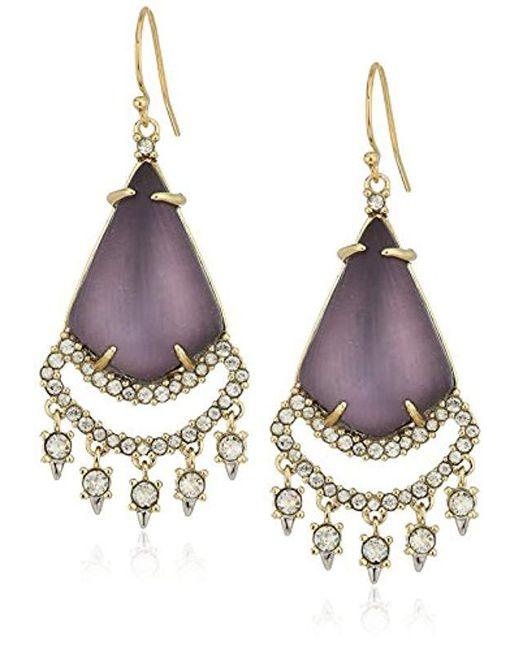 Alexis Bittar - Multicolor Crystal Lace Chandelier Deep Lilac Drop Earrings - Lyst