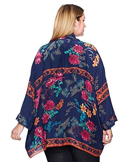 df81cef6706a5 ... Johnny Was - Blue Plus Size Wilimina Kimono - Lyst