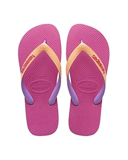 Havaianas Pink Flip Flop Sandals, Top Mix