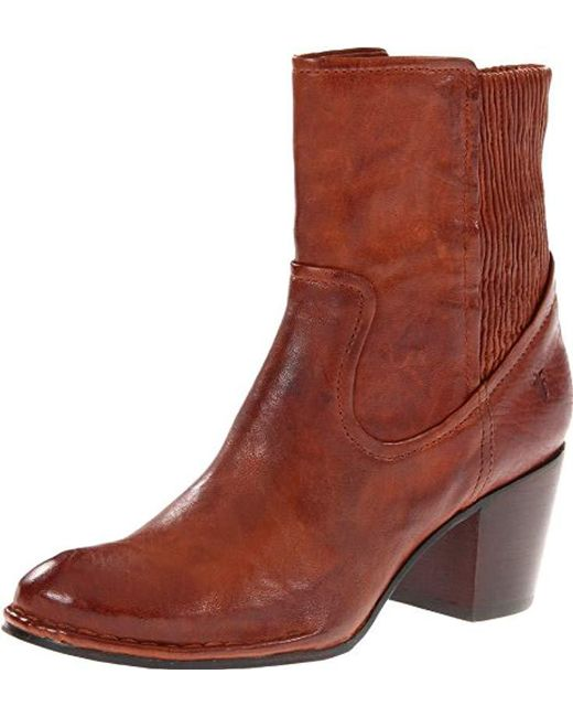 Frye - Brown Lucinda Scrunch Short Boot - Lyst