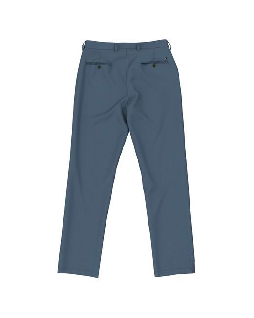 Tommy Hilfiger Blue Stretch Chino Pants In Custom Fit for men