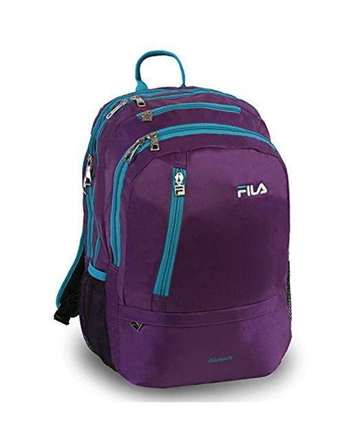 Fila Purple Duel School Laptop Computer Tablet Book Bag Backpack Lyst