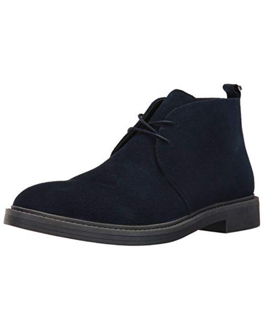 Calvin Klein - Blue Jae Suede Boot for Men - Lyst