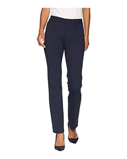 NYDJ Blue Petite Ponte Trouser Pant