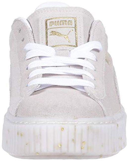 low priced 7d37b a68e2 Women's White Suede Platform Celebrate Wn's Sneaker