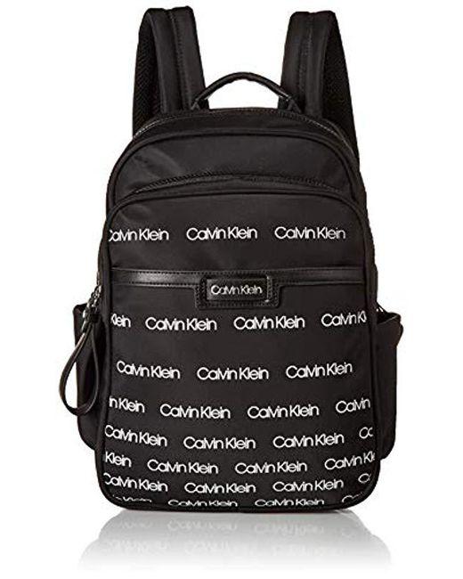 db2046915624 Calvin Klein - Black Lane Nylon Key Item Backpack - Lyst ...