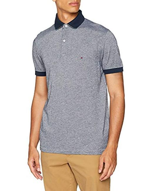 d89966c7 Tommy Hilfiger - Blue Printed Undercollar Regular Polo Shirt for Men - Lyst  ...