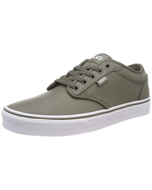 Men's Green Atwood Synthetic Leather Low-top Trainers