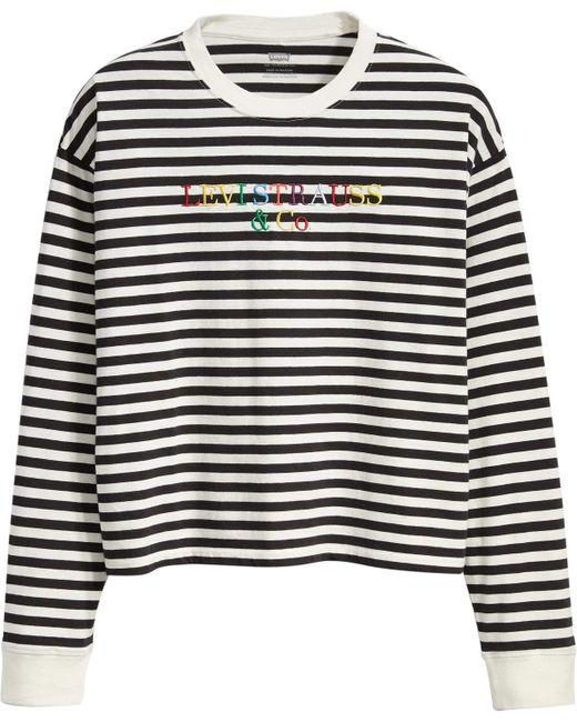 Levis Graphic Long Sleeve Tee Stripe Black White XS Levi's en coloris Multicolor